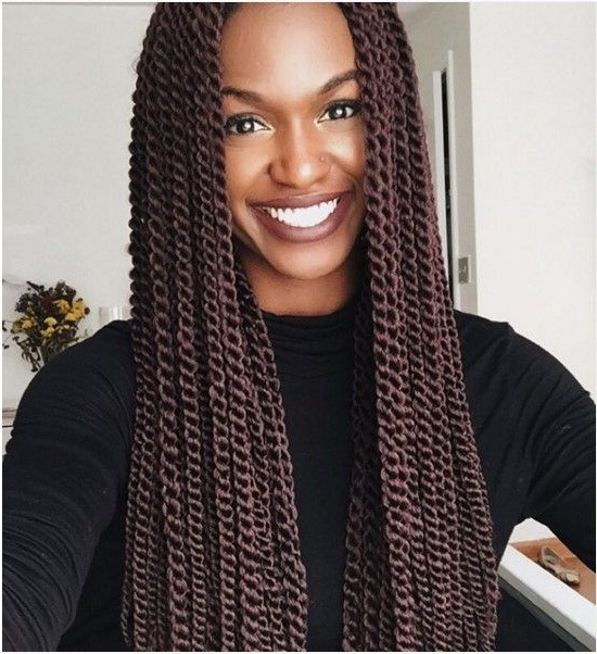 Extremely Attractive Senegalese Twists Style You Should Intended For 2018 Black And Brown Senegalese Twist Hairstyles (View 4 of 25)