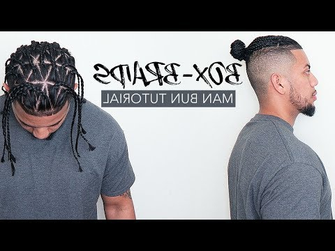 ? How To Do Triangle Box Braids   Man Bun Tutorial – Youtube With Regard To Latest Undershave Micro Braid Hairstyles (View 10 of 25)
