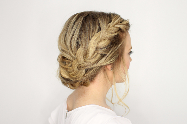 Fancy French Braid Updo within Latest Fancy Braided Hairstyles