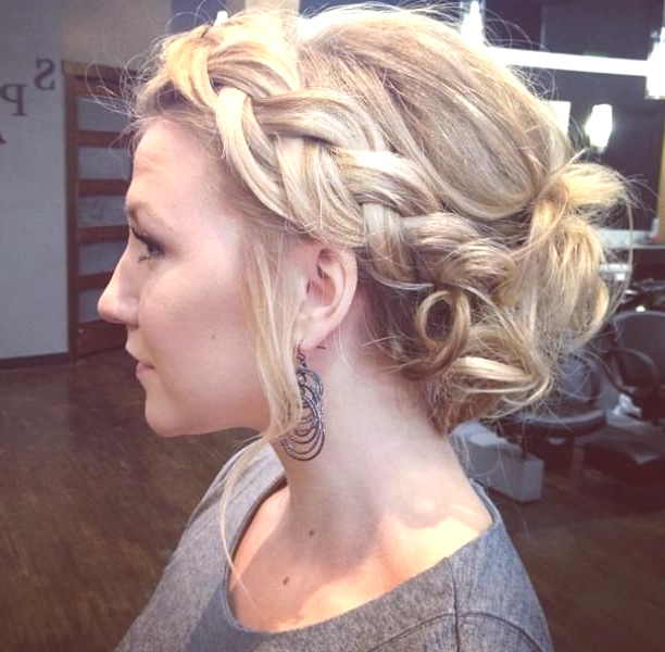 Fashion : Crown Braided Messy Updo Hairstyle Interesting Regarding Most Current Messy Crown Braid Updo Hairstyles (View 19 of 25)