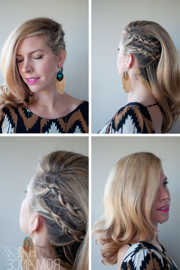 Faux Undercut – Cornrow Comb-Over Braid - Side Part Braided inside Current Side Parted Braid Hairstyles