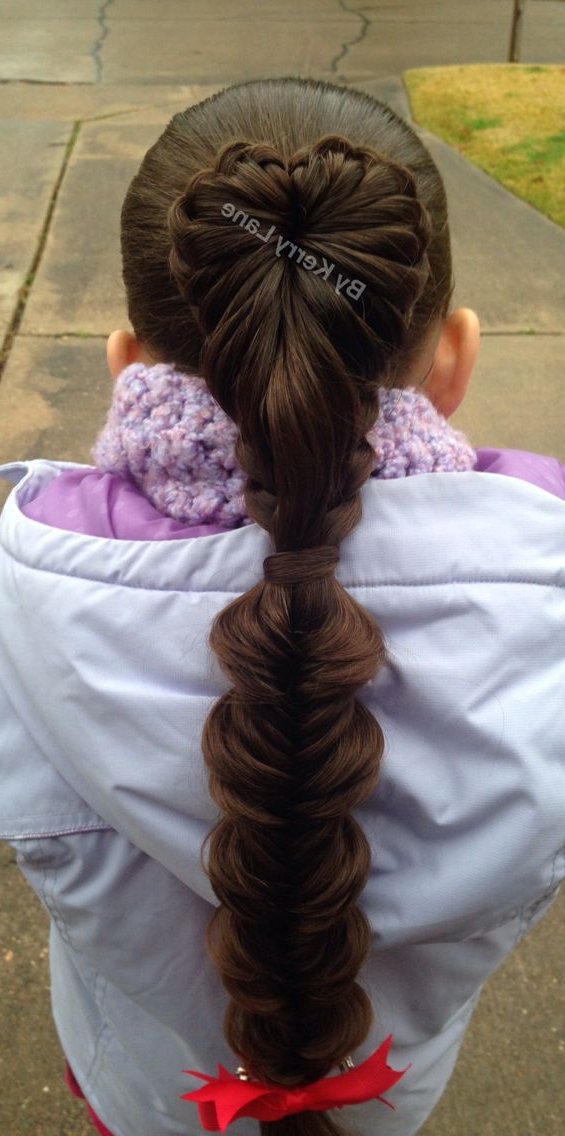 Feathered Heart Shaped Braid Followed5 Heart Shaped regarding Best and Newest Heart-Shaped Fishtail Under Braid Hairstyles