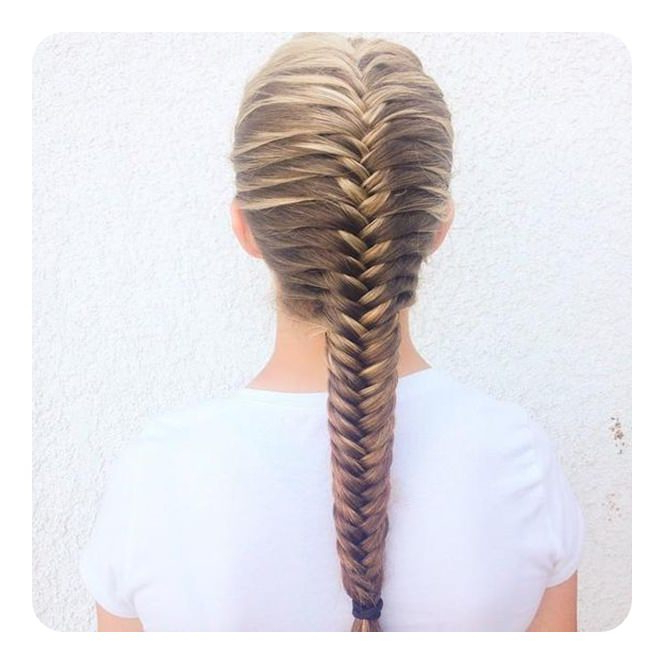 Fishtail Braid A 104 Of Hot And Happening Hairstyles For In Current Thick Two Side Fishtails Braid Hairstyles (View 17 of 25)