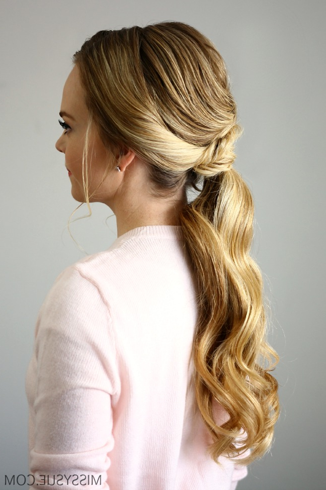 Fishtail Embellished Ponytail for Most Popular Wrapped Ponytail Braid Hairstyles