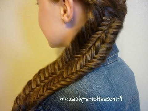 Fishtail Illusion Braid (Mermaid Braid) Hairstyle Tutorial pertaining to Best and Newest Mermaid Braid Hairstyles With A Fishtail