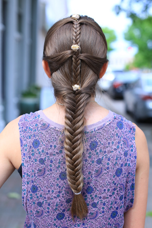 Fishtail Mermaid Braid | Cute Girls Hairstyles regarding Most Up-to-Date Mermaid Fishtail Hairstyles With Hair Flowers