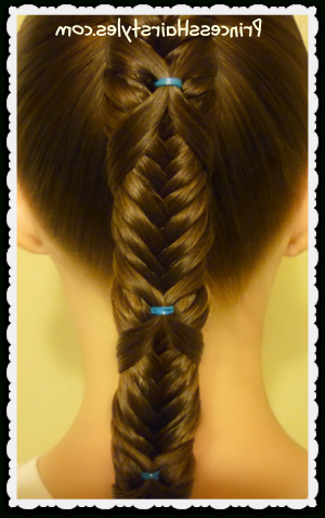 Fishtail Wrap Braid Ponytail Hairstyle | Hairstyles For Regarding Current Wrapping Fishtail Braided Hairstyles (View 24 of 25)