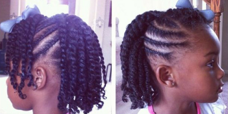 Five Simple Ways To Style Your Child's Twists For Back To School regarding Most Up-to-Date Purple Passion Chunky Braided Hairstyles