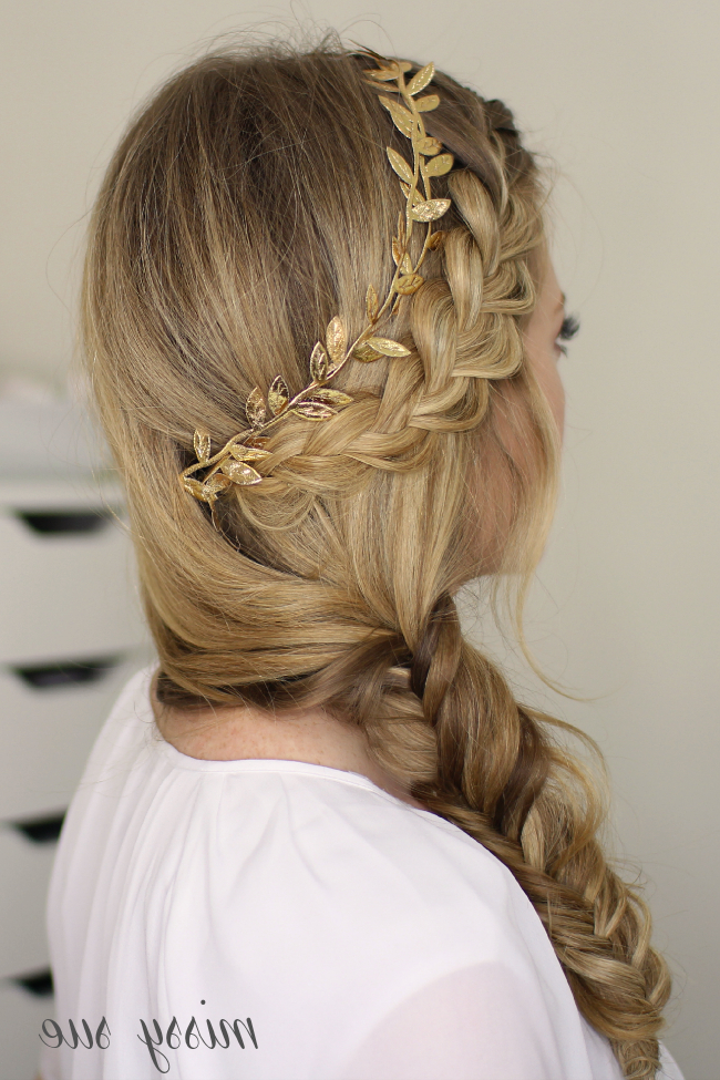 French Braid And Side Fishtail Braid Inside Latest Thick Two Side Fishtails Braid Hairstyles (View 19 of 25)