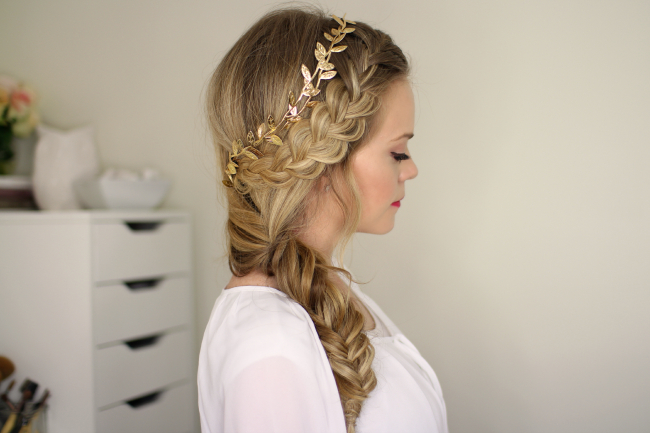 French Braid And Side Fishtail Braid Intended For Newest 3D Mermaid Plait Braid Hairstyles (View 22 of 25)