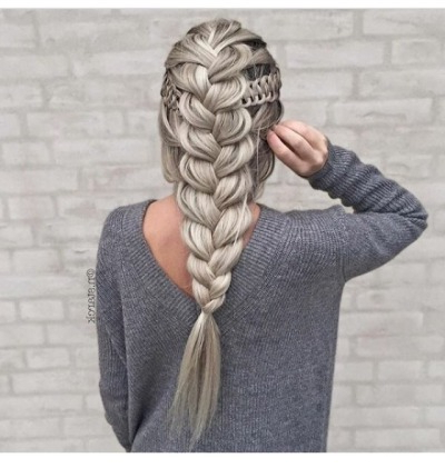 French Braid Hairstyle | Tumblr in Most Popular Flawless Mermaid Tail Braid Hairstyles