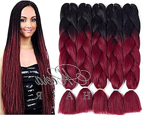 Generic Two-Tone Ombre Braiding Hair regarding Most Recently Two Ombre Under Braid Hairstyles