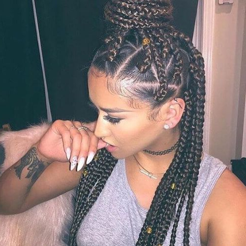 Geometric Roots Box Braids | Hair | Pinterest | Trenzas In Most Recently Geometric Blonde Cornrows Braided Hairstyles (View 2 of 25)