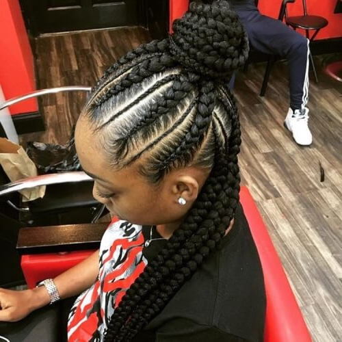 Ghana Braids: 50 Ways To Wear This Flattering Protective In Most Recent Chunky Ghana Braid Hairstyles (View 19 of 25)