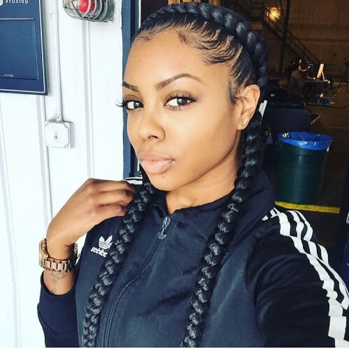 Ghana Braids: 50 Ways To Wear This Flattering Protective pertaining to Most Up-to-Date Two Ombre Under Braid Hairstyles