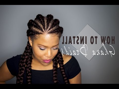 Ghana Braids Hairstyles: History & Pictures Of Ghana Braids in Most Recently Whirlpool Braid Hairstyles