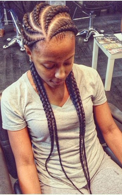 Ghana Braids. Undetectable Braids. Cornrows. Braids. Chunky pertaining to Most Current Chunky Ghana Braid Hairstyles
