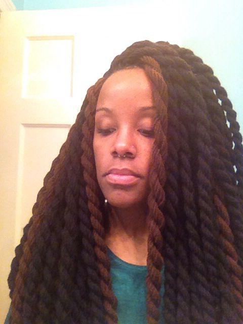 Giving Different Angles #yarn #havana #jumbo #natural with regard to Most Current Jumbo Twists Yarn Braid Hairstyles