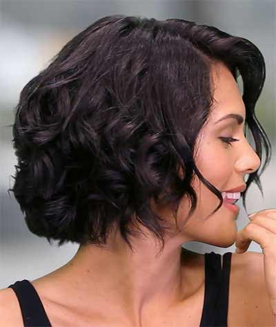 Gorgeous And Simple Twist Back Updo Throughout Recent Wavy Bob Hairstyles With Twists (View 5 of 25)
