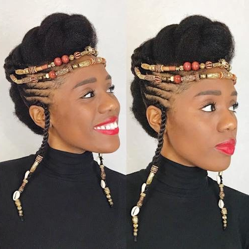 Gorgeous Hairstyles With Beads And Braids | 2019 Haircuts regarding 2018 Vintage Inspired Braided Updo Hairstyles