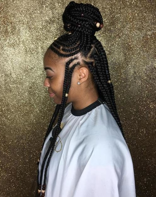 Gorgeous Hairstyles With Beads And Braids | 2019 Haircuts Regarding Current Loose Braided Hairstyles With Turban (View 20 of 25)