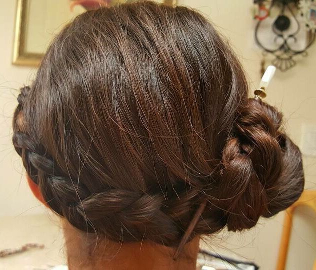 Gorgeous Up-Do! Wrap Around French Braid Into A Side Bun regarding Recent Secured Wrapping Braided Hairstyles