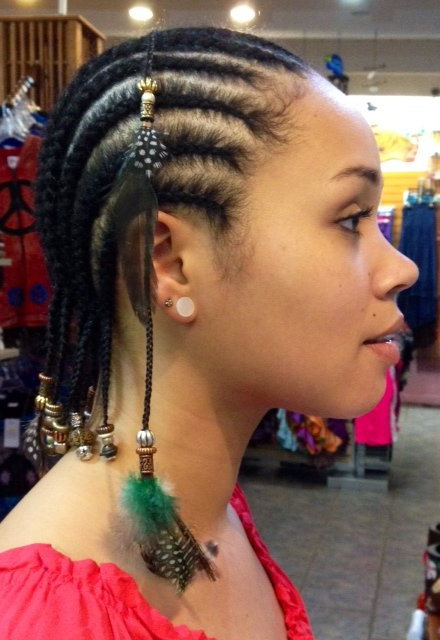 Hair Braids, Wraps, Feathers, Cornrows, Etc | Natacha's Pertaining To Most Up To Date Braided Hairstyles With Beads And Wraps (View 20 of 25)