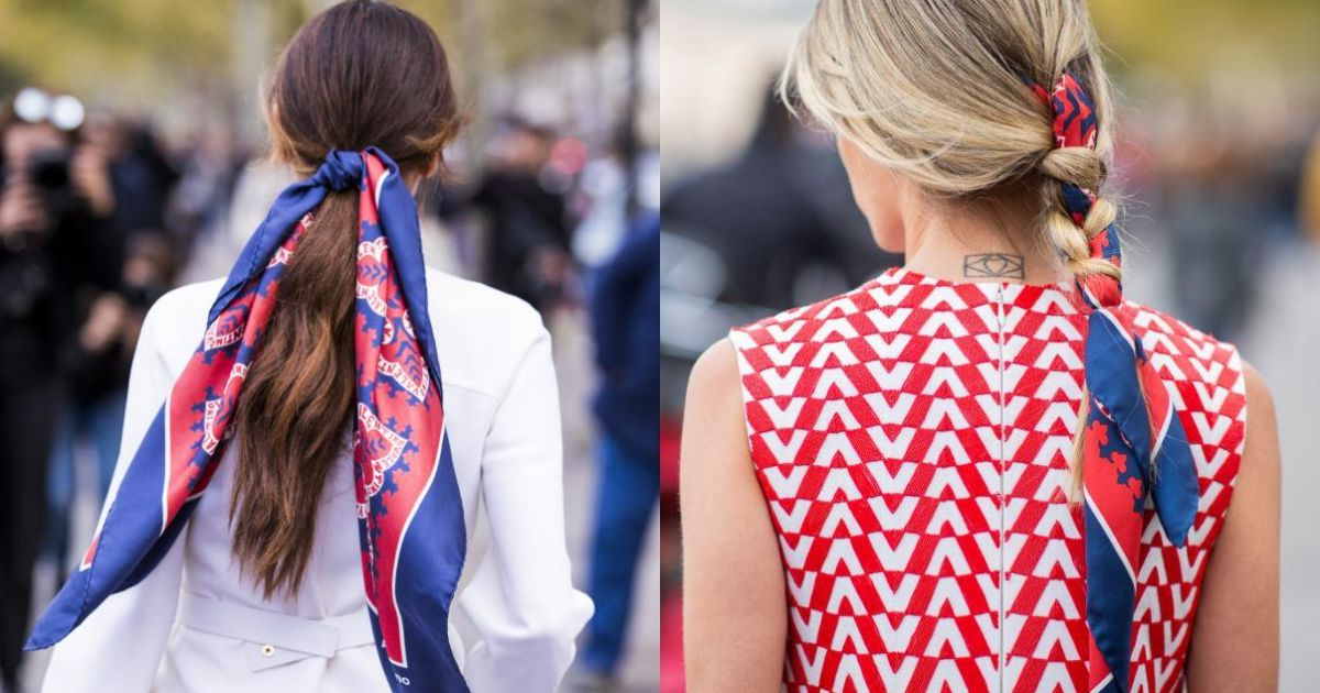 Hair Scarf Challenge: French Braid Or Low Ponytail? Intended For Most Recent Highlighted Invisible Braids With Undone Ends (View 24 of 25)