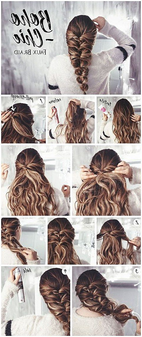 Hair Tutorial: Bohemian Chic Faux Braid For Most Recently Chic Bohemian Braid Hairstyles (View 21 of 25)