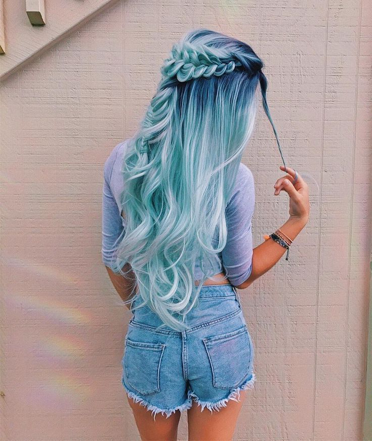 Hairstyle Panosundaki Pin With Regard To Most Recently Cotton Candy Colors Blend Mermaid Braid Hairstyles (View 7 of 25)