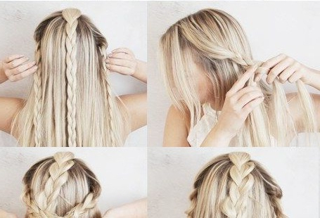 Half Up 3 Boho Braids Hairstyle Tutorial | Chikk With Most Up To Date Boho Half Braid Hairstyles (View 5 of 25)