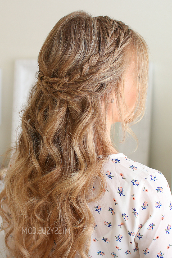Half Up Double Wrapped Braids | Missy Sue Pertaining To Best And Newest Half Up, Half Down Braided Hairstyles (View 12 of 25)