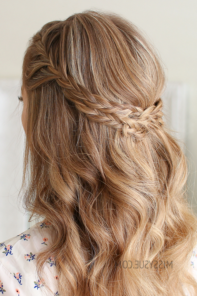 Half Up Double Wrapped Braids | Missy Sue Within Most Popular Half Up, Half Down Braid Hairstyles (View 6 of 25)