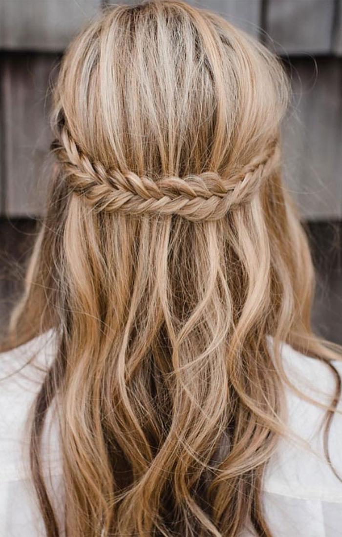 Half Up Half Down Braid Hairstyles | Boho Wedding Hairstyles Within Most Popular Half Up Half Down Boho Braided Hairstyles (View 4 of 25)