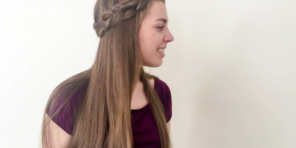 Half Up Halo Braid – Love Hannah Lee Pertaining To Current Voluminous Halo Braided Hairstyles (View 25 of 25)