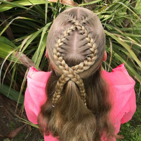 Half Up Rope Braided Hairstyle Throughout Most Current Pink Rope Braided Hairstyles (View 15 of 25)