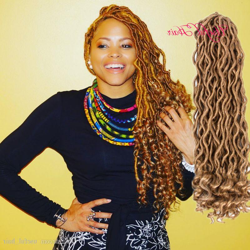 Half Wave Half Curl Goddess Locs Hair 24Roots Faux Locs Curly Crochet Hair 18 Inch Crochet Braids Synthetic Hair Extensions For Black Women Throughout Most Up To Date Kanekalon Braids With Golden Beads (View 21 of 25)