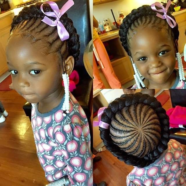 Halo Braid | Hair For Little Black Girls | Braids For Kids Pertaining To Most Current Halo Braided Hairstyles With Beads (View 12 of 25)