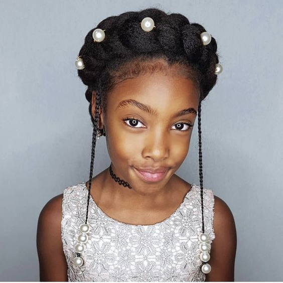 Halo Braids For Your Natural Hair | Natural Hair Dos Within Newest Halo Braided Hairstyles With Beads (View 6 of 25)