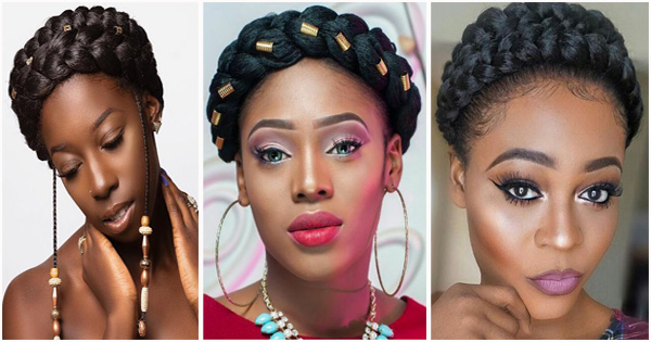 Halo Braids Or Crown Braids: Hairstyle Idea For Black Women With 2018 Traditional Halo Braided Hairstyles With Flowers (View 20 of 25)
