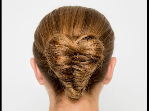 Heart Shaped Fishtail Bun – Youtube With Regard To Most Up To Date Heart Shaped Fishtail Under Braid Hairstyles (View 2 of 25)