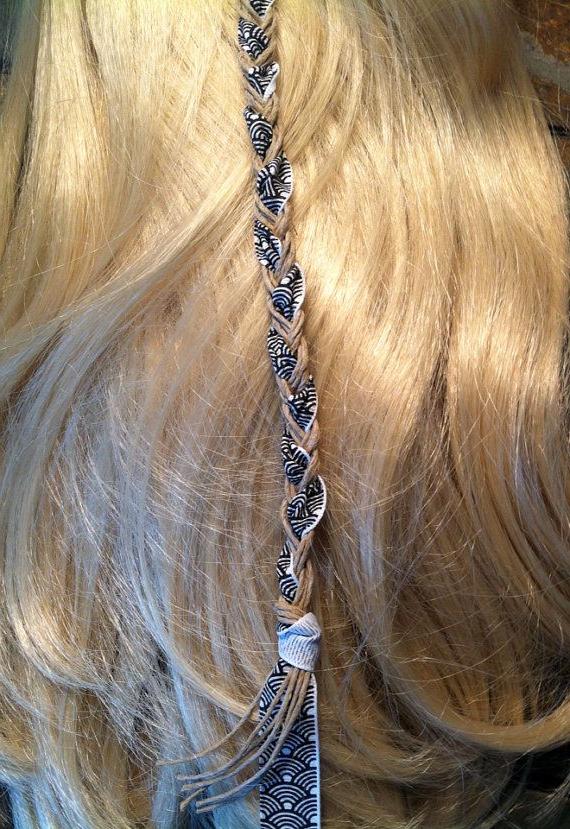 Hemp & Ribbon Hair Wrapthe Gypsy Bead On Etsy, $ (View 10 of 25)