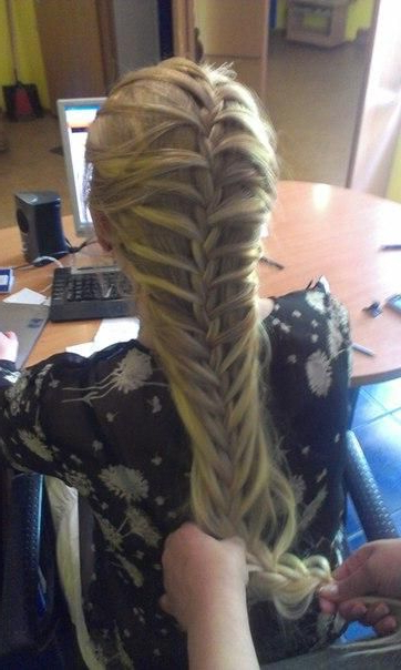Hey I Made This Braid Before I Saw It On Pinterest In Most Recent Mermaid Inception Braid Hairstyles (View 10 of 25)