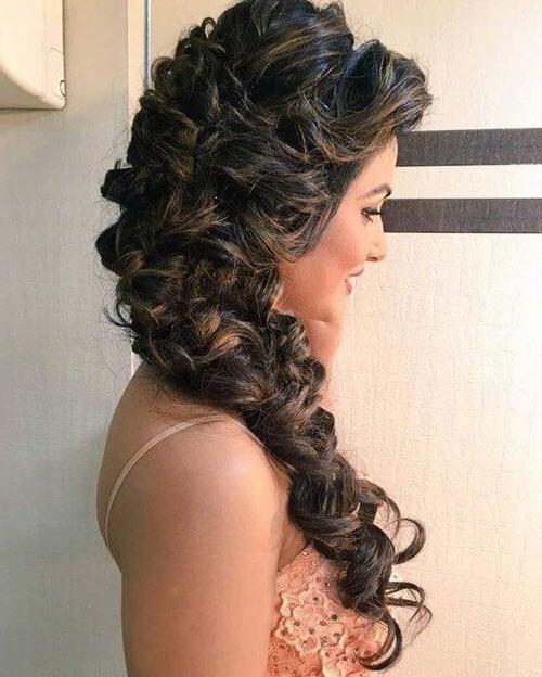 Hina Khan In Messy Mermaid Braid   Bollywood Hair In 2019 With Most Current Messy Mermaid Braid Hairstyles (View 2 of 25)