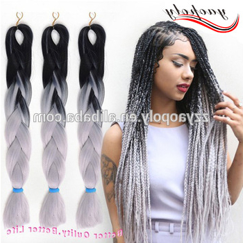 Hot Sale Ombre Color Two Tone Jumbo Twist Braiding Hair – Buy Jumbo Braiding Hair,ombre Color Two Tone Hair,synthetic Ombre Marley Hair Braid Product Within Most Up To Date Two Tone Twists Hairstyles With Beads (View 21 of 25)