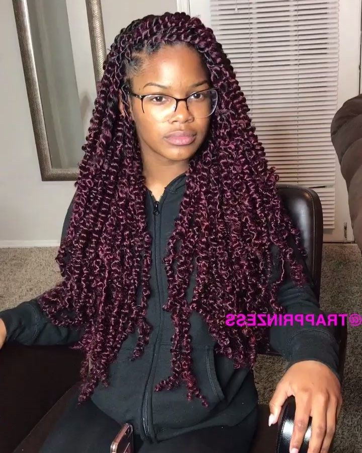 """Houston Braider ?? On Instagram: """"Small Passion Twist Pertaining To Recent Purple Passion Chunky Braided Hairstyles (View 3 of 25)"""