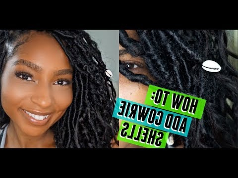 How To: Add Cowrie Shells To Hair Or Locs| Goddess Bohemian Locs Within Most Current Puka Shell Beaded Braided Hairstyles (View 2 of 25)