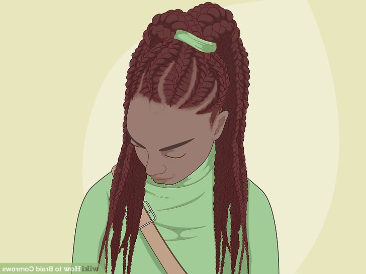 How To Braid Cornrows: 11 Steps (With Pictures) – Wikihow Within Best And Newest Tight Black Swirling Under Braid Hairstyles (View 25 of 25)