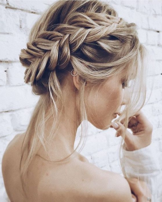 How To Create A Stunning Braided Wedding Hairstyle Pertaining To Most Recent Wedding Braided Hairstyles (View 11 of 25)