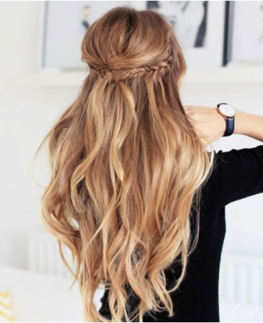 How To Create Easy Boho Hair | Glam & Gowns Blog Regarding Current Boho Half Braid Hairstyles (View 8 of 25)